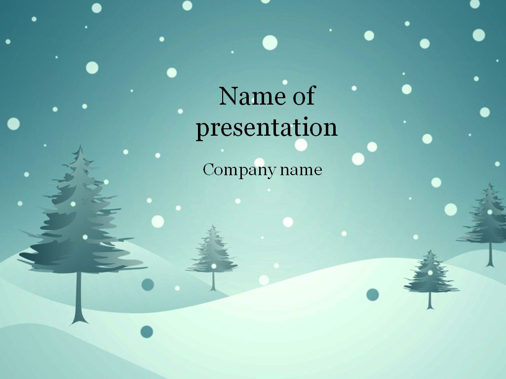 Download free Blue winter Powerpoint template for presentation – Winter Powerpoint Template