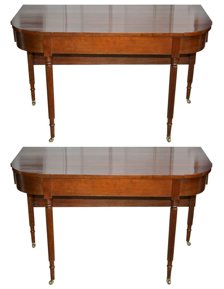 American Federal Cherrywood Two Part Dining Table Or Pair Of Consoles Traditional Furniture Dining Table Dining