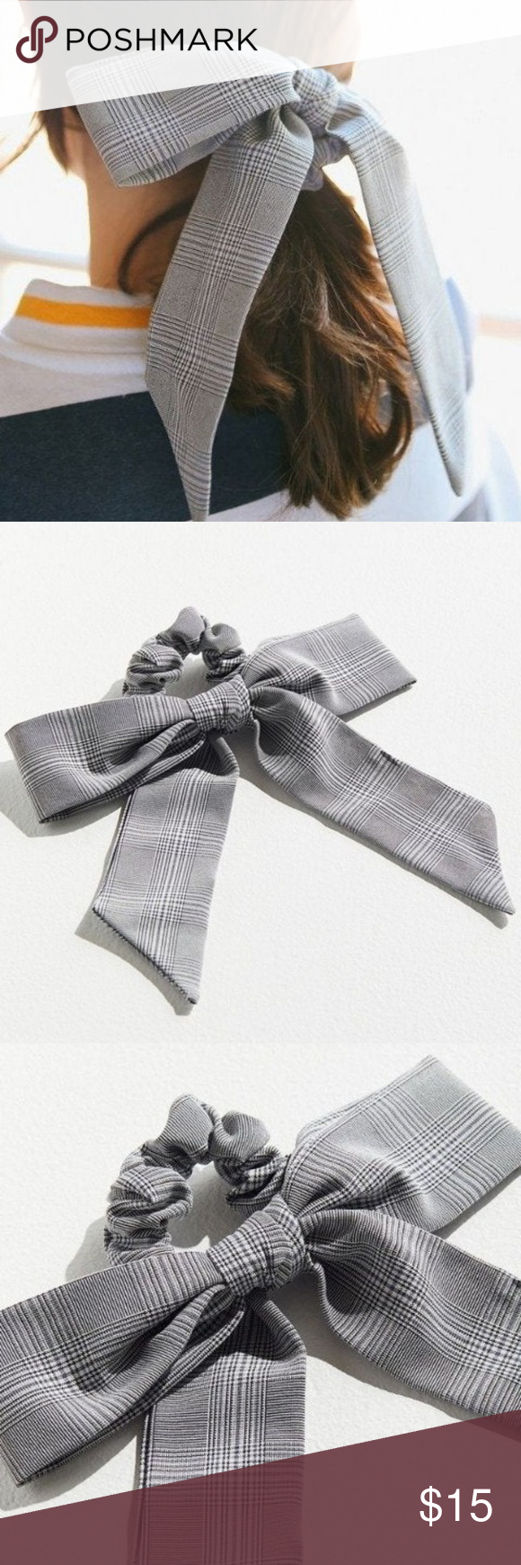 Cute Bow Scrunchie In Polyester Nwt New With Tag Super Cute Bow Scrunchie In Polyester Patterned Ponytail Holder Topp Fancy Bows Cute Bows Scrunchies