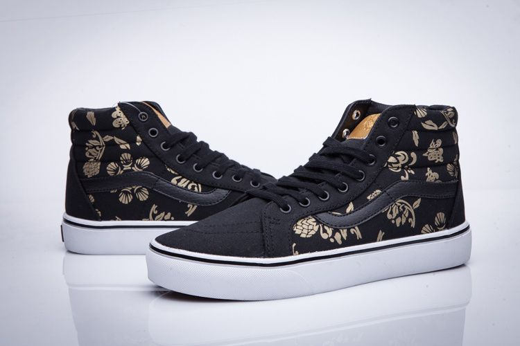 VANS 16 50 anniversary of the black gold series of high to men and women  shoes SK8 Hi Slim  Vans 85fecd0f3
