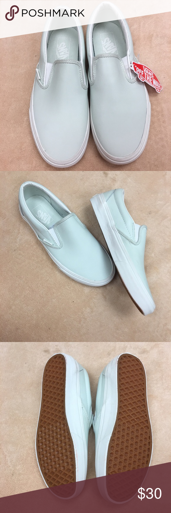 20e7ba83fa6a Vans Leather Slip On Ladies leather Vans sturdy low profile slip on leather  uppers