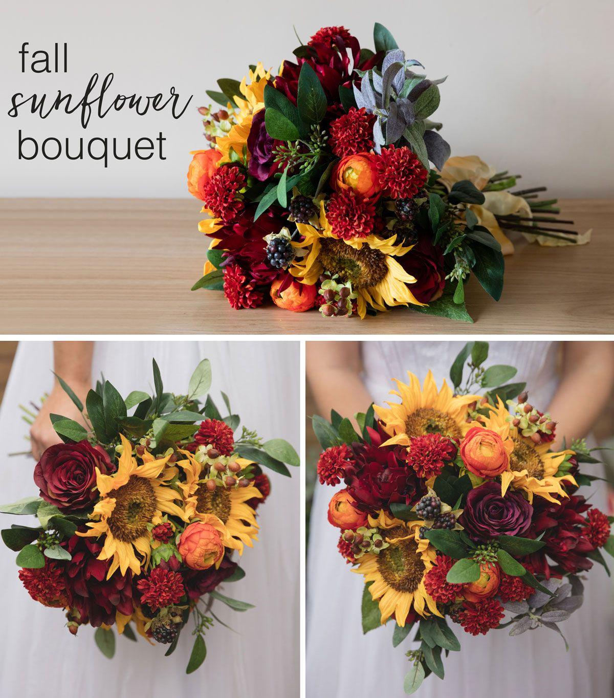 DIY Fall Sunflower Bouquet Sunflower bouquets, Pumpkin