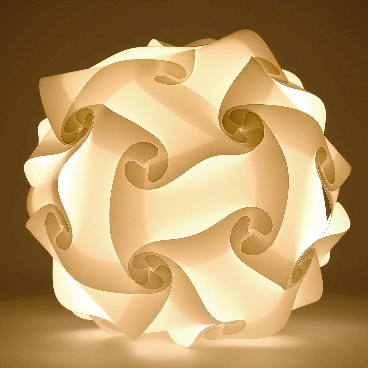 Modern Iq Jigsaw Light In 30 Pieces Min 15 Different Designs Flower Chandelier Videos Ikea Lamp Shade Lamp Paper Lampshade
