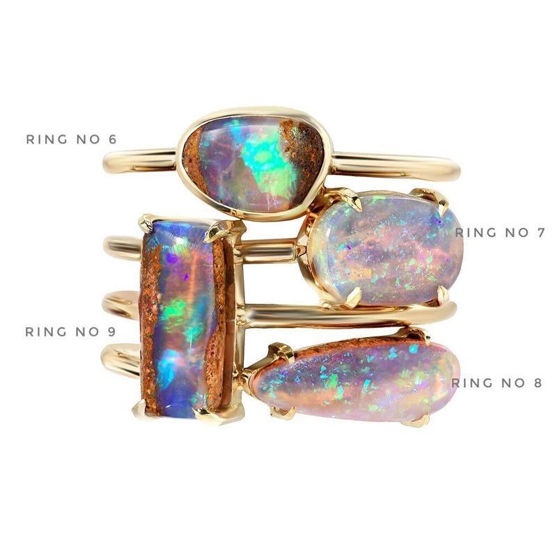 Opal Ring Australian Opal Ring Boulder Opal Ring Opal | Etsy
