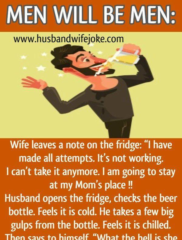 Men will be Men - Husband Wife Jokes | Wife jokes