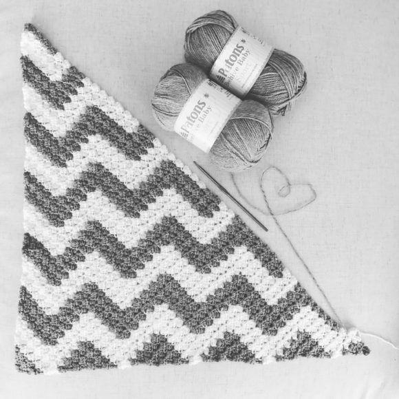 Chevron C2C manta   crochet   Pinterest