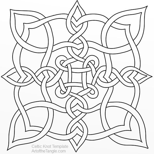 Celtic Knot Templates Celtic knot designs, Celtic knots and Tangled - free form templates