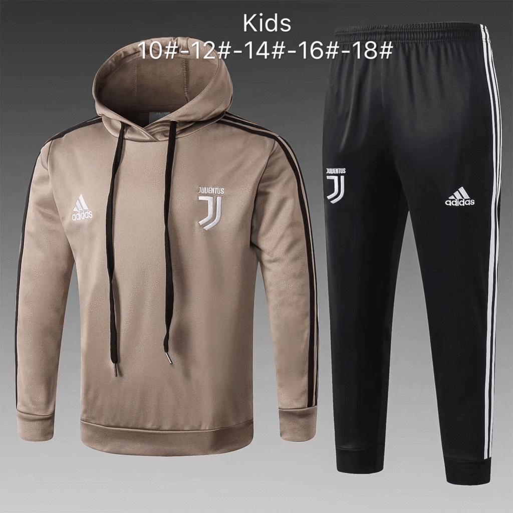 release date: san francisco on feet at Juventus 18/19 Khaki Hoodie Kids ( Youth) Tracksuit Slim Fit ...