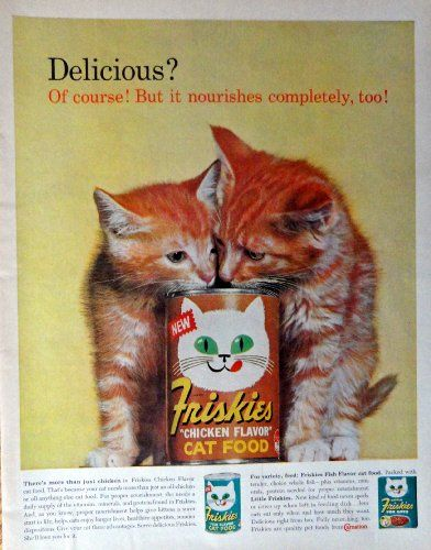 Pin By Charles Minor On Vintage Magazine Advertisements Illustrations Art Cat Food Cats Vintage Ads