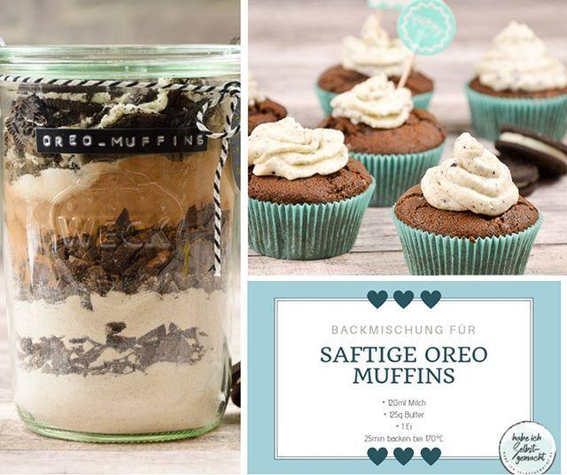 Saftige Oreo Muffins Auch Als Backmischung Im Glas Rezept