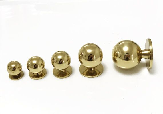 Lili Cabinet Knob Solid Polished Brass By ForgeHardwareStudio