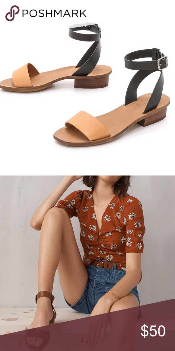 d11f21f55c0   madewell   Boardwalk Ankle-Strap Sandals 〰 Genuine leather sandals