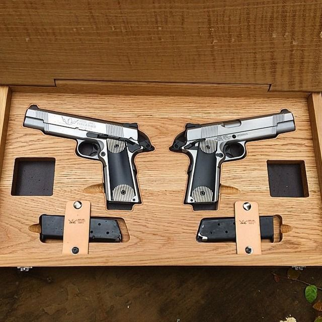 Repost From Jessejamesfirearms Beautiful Set Of Sequence Numbers Stainless Steel Cisco 1911 S For My Good Friend Jimmie Vau Guns Hand Guns Pistol Display Case