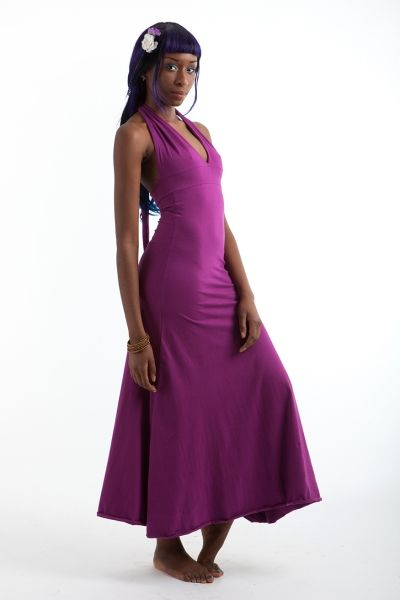 A-line dress with long straps