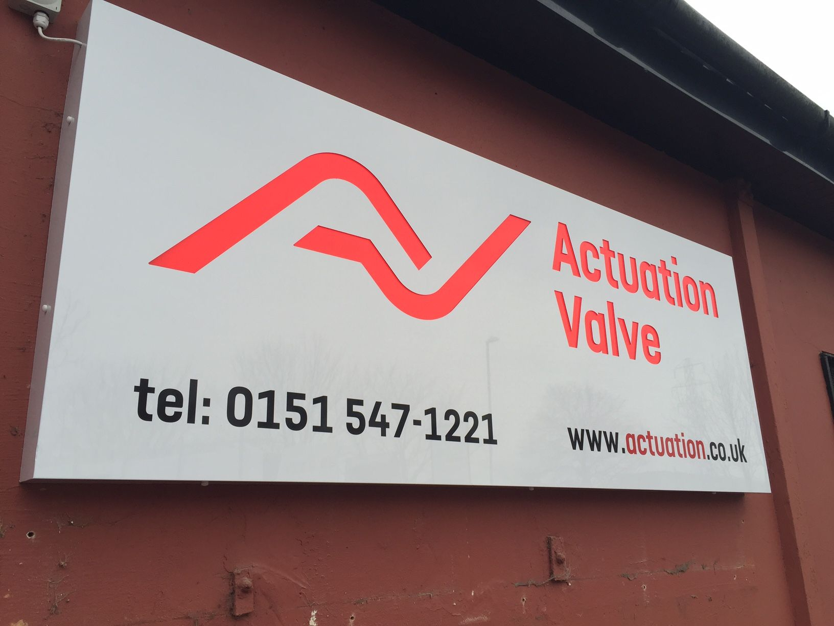 Actuation Valve sign by Kirkby Signs Company logo, Signs