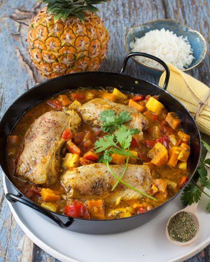 Ananas-Hühnchen-Eintopf karibische Art Rezept - SONNENTOR ...
