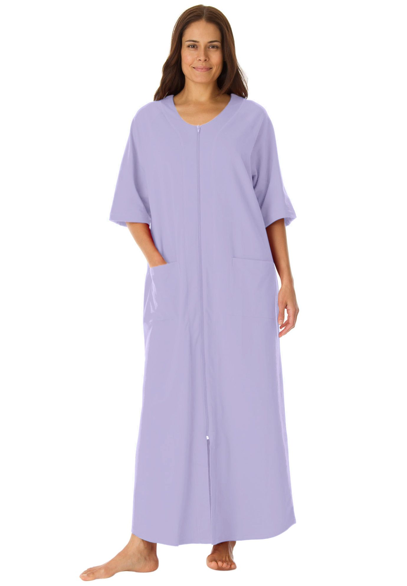 c0994fc40c5 Long robe in french terry with zip front by Dreams   Co.®