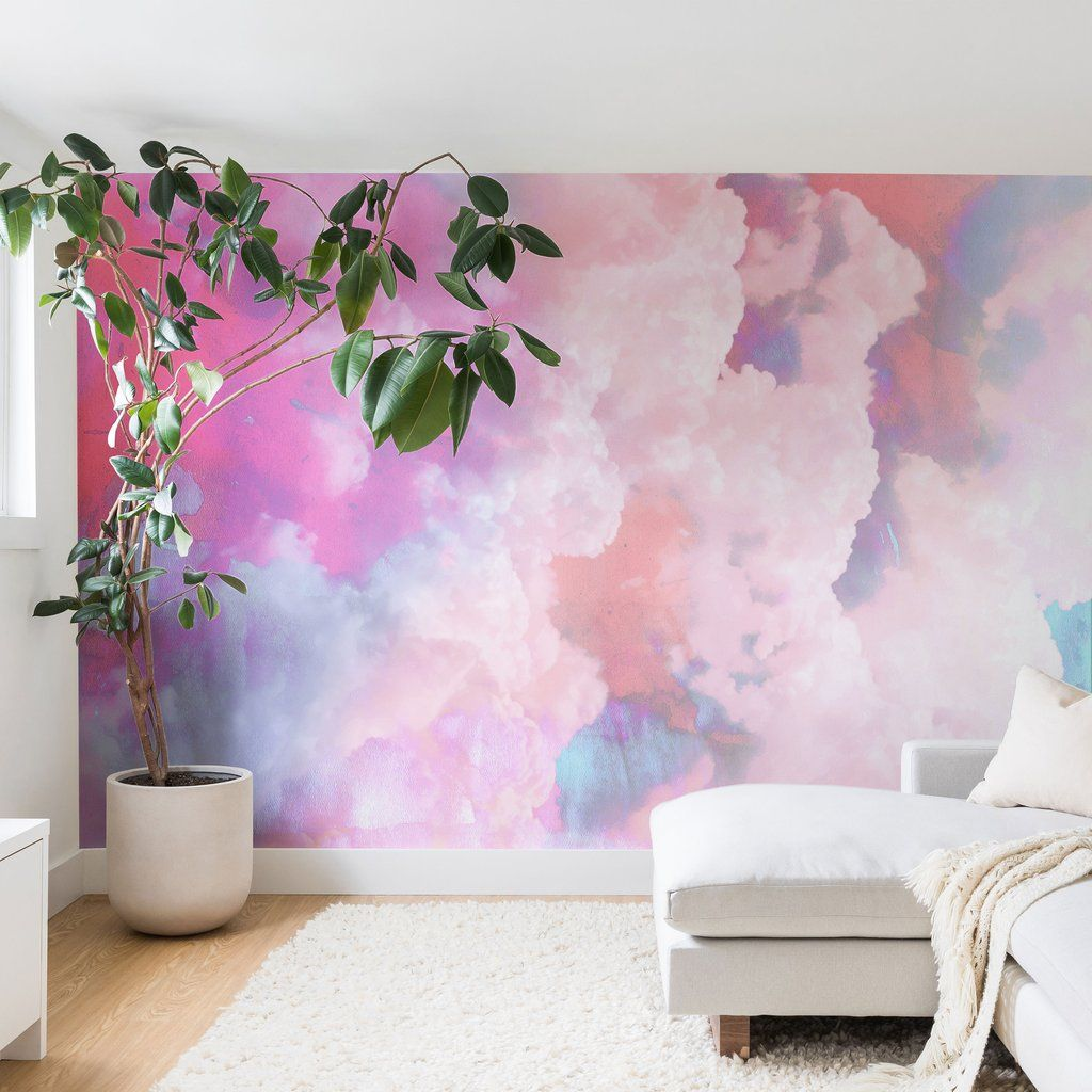 Candy Clouds Wall Mural Emanuela Carratoni Bedroom Wall Paint