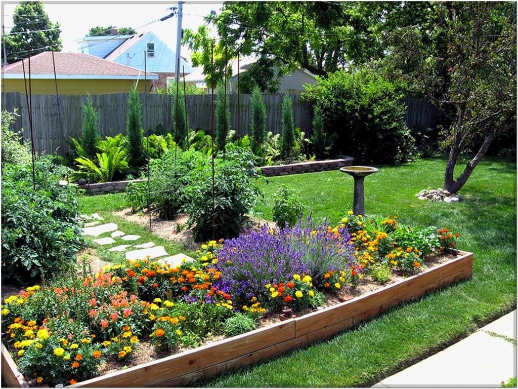 Splendid Rectangular Flower Bed Ideas Small Flower Garden ... on Small Rectangular Backyard Ideas id=33413