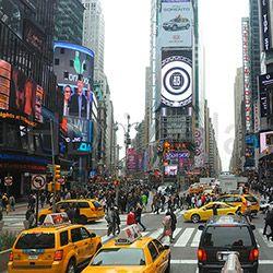 Quadro New York Cidade Impressão Digital (30x30x2,7cm) Uniart