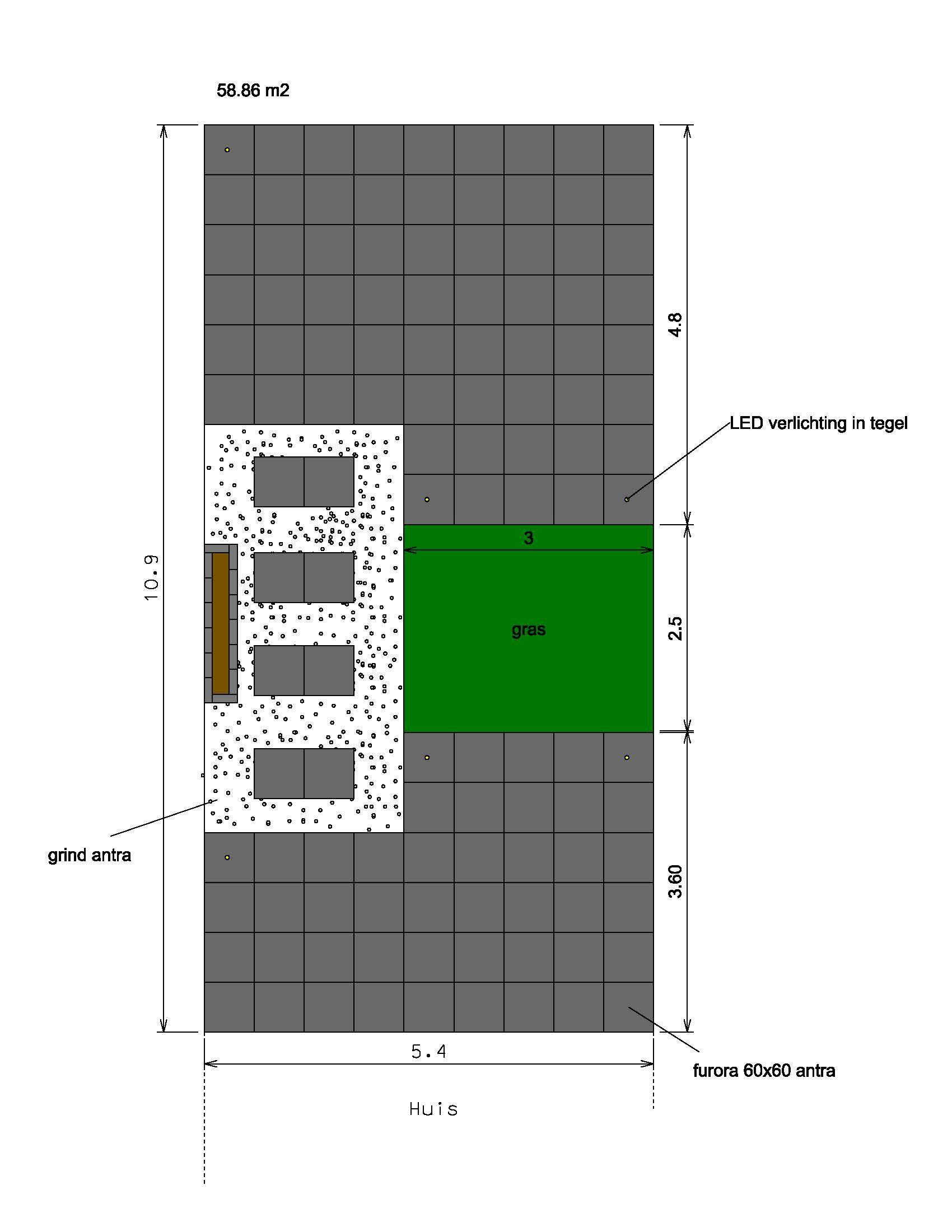 een ontwerp van achtertuin reigerskamp