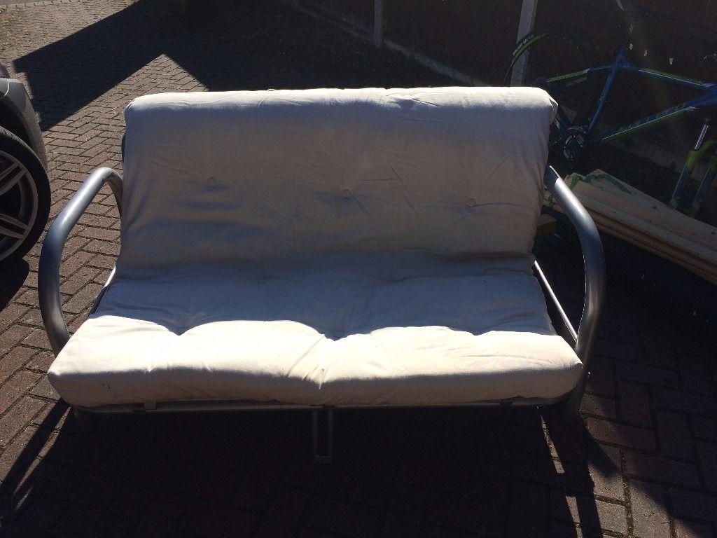 Admirable Futon Sofa Bed Metal Frame In West Moors Dorset Gumtree Machost Co Dining Chair Design Ideas Machostcouk