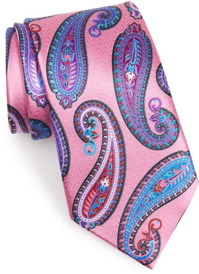 aaeb298f Men's Ermenegildo Zegna Paisley Silk Tie, Size Regular - Pink in ...