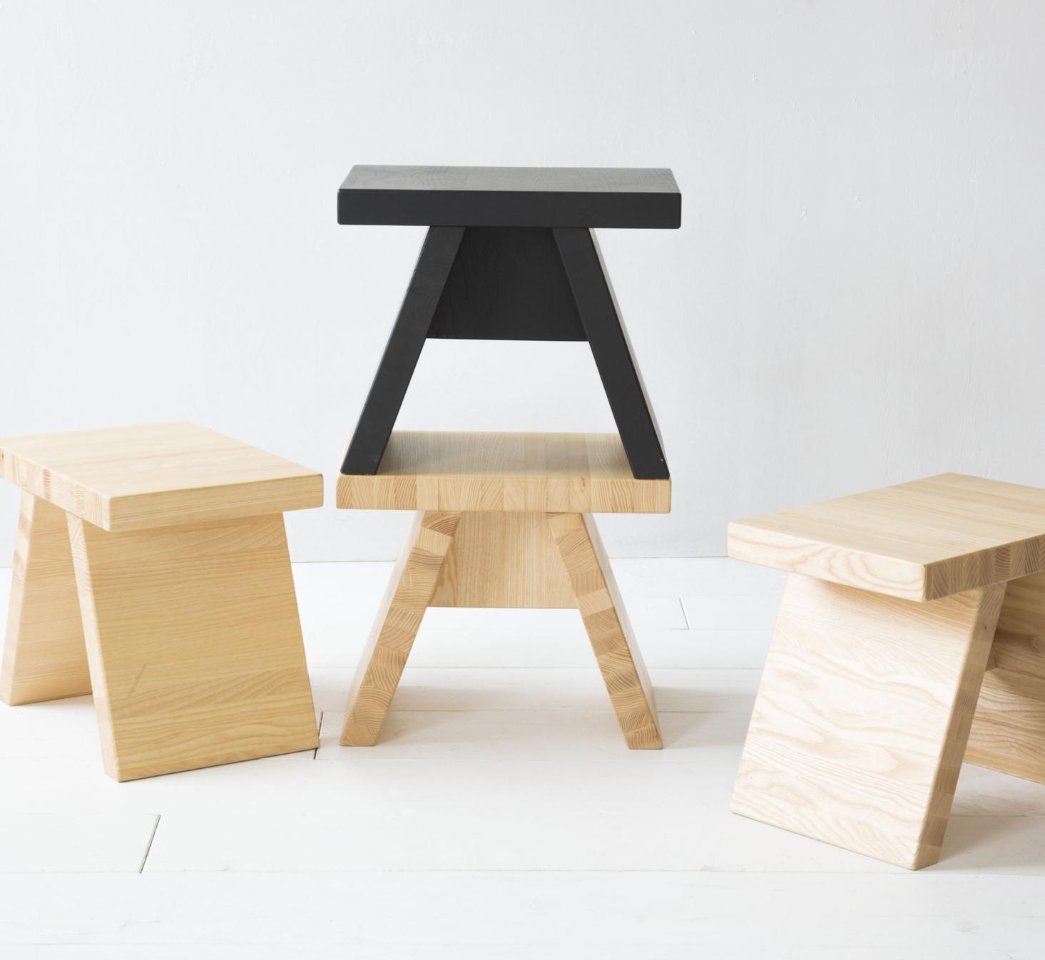 Tap Tabouret En Frene Fonce De Style Japonais Tabouret Mobilier De Salon Deco Maison