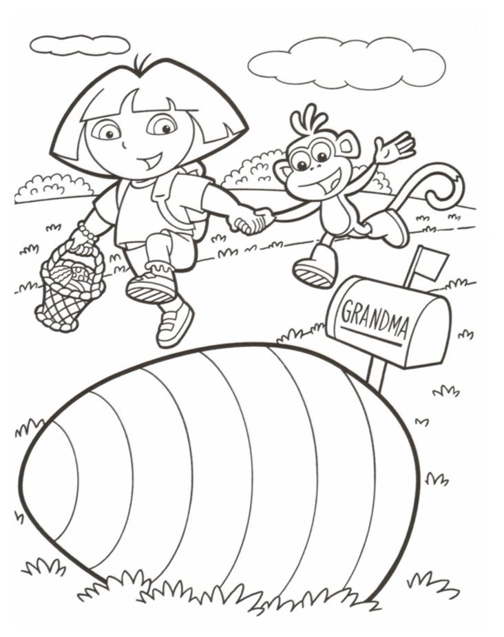 dora the explorer easter color page print your dora the explorer coloring pages free dora the explorer color page - Dora The Explorer Coloring Pages Free