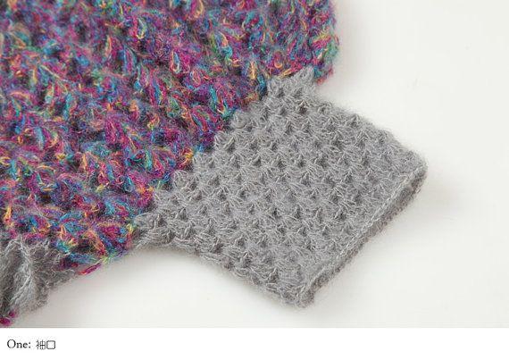 Encogiéndose de hombros Cardigan suéter codo por TinaCrochet2016