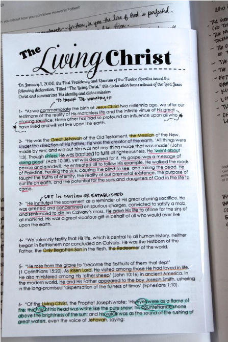 image about The Living Christ Free Printable known as Why is Jesus Christ Considerable inside of My Daily life scripture examine