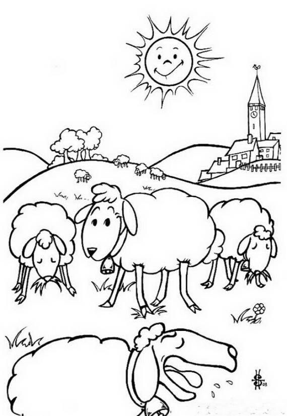 Eid Al Adha Islam Coloring Pages Farm Animal Coloring Pages