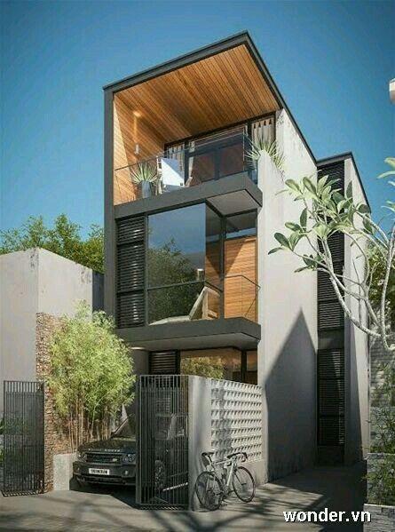 Pin de muthu home en home pinterest fachadas casas y for Viviendas minimalistas pequenas