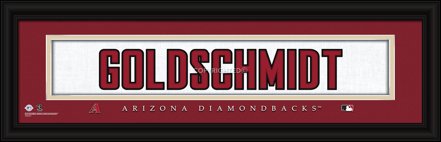 "Paul Goldschmidt Arizona Diamondbacks Player Stitched Jersey 8""x24"" Framed Print"