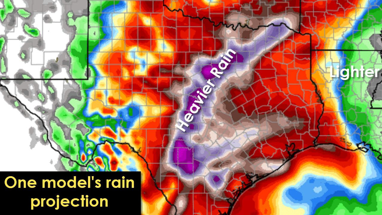 Widespread Rain And Some Flooding Likely Today Through Sunday Texas Storm Chasers Texas Storm Rain Weather Blog