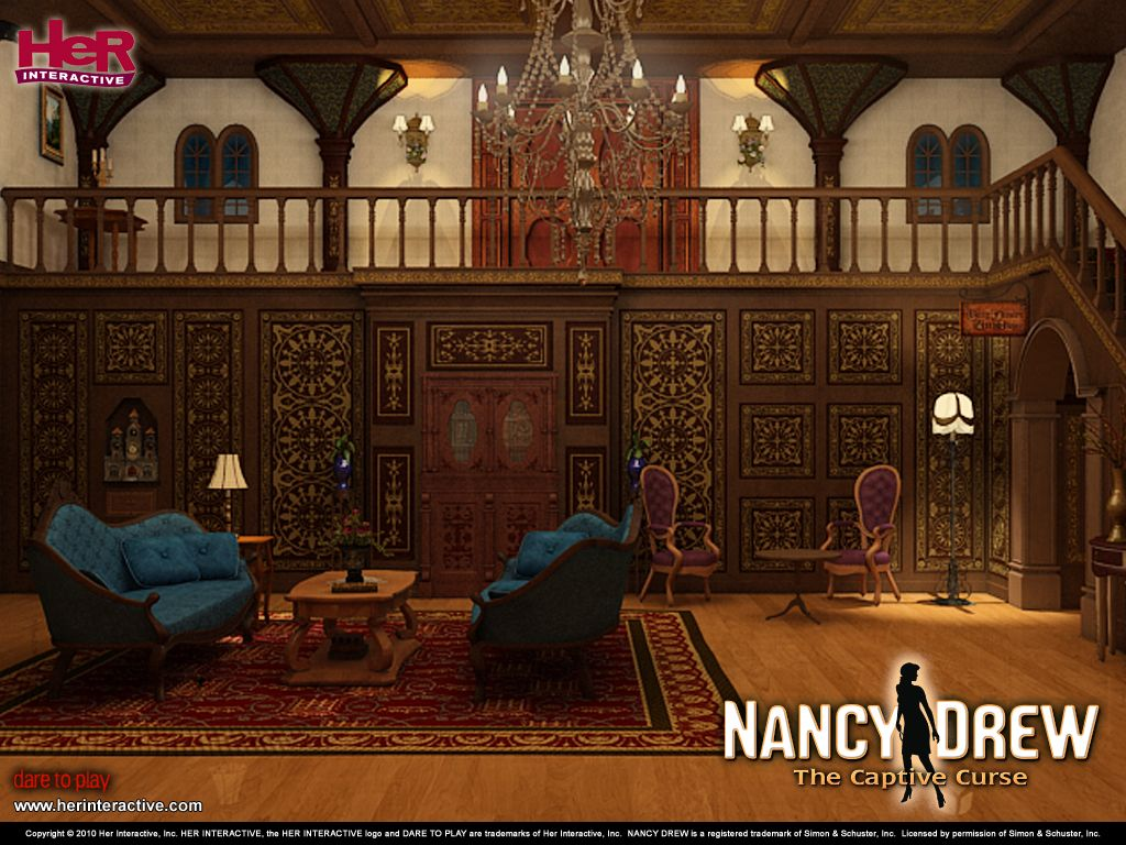 Foyer Wallpaper Anime : Nancy drew the captive curse wallpaper of foyer