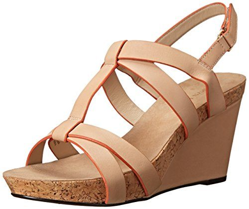 Taryn Rose Women's Trini Wedge Sandal, Natural, 11 M US -- Read more reviews of the product by visiting the link on the image.