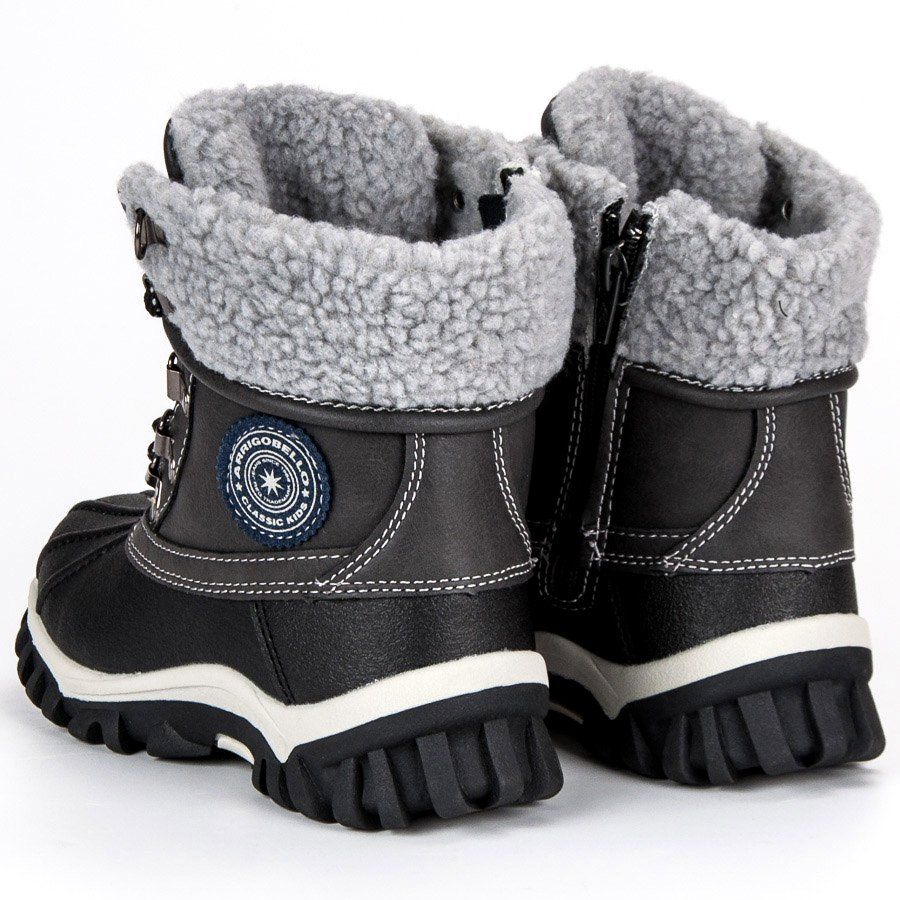 Kozaki Dla Dzieci Arrigobello Arrigo Bello Szare Ocieplane Obuwie Dzieciece Boots Winter Boot Fashion