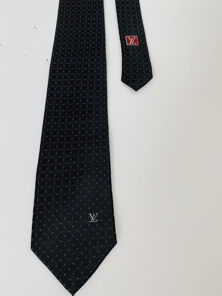 3309cc48343fed LOUIS VUITTON TIE Monogram Polka Black   Dot Pink Blue Logo LV 100% Silk  Aut  fashion  clothing  shoes  accessories  mensaccessories  ties (ebay  link)