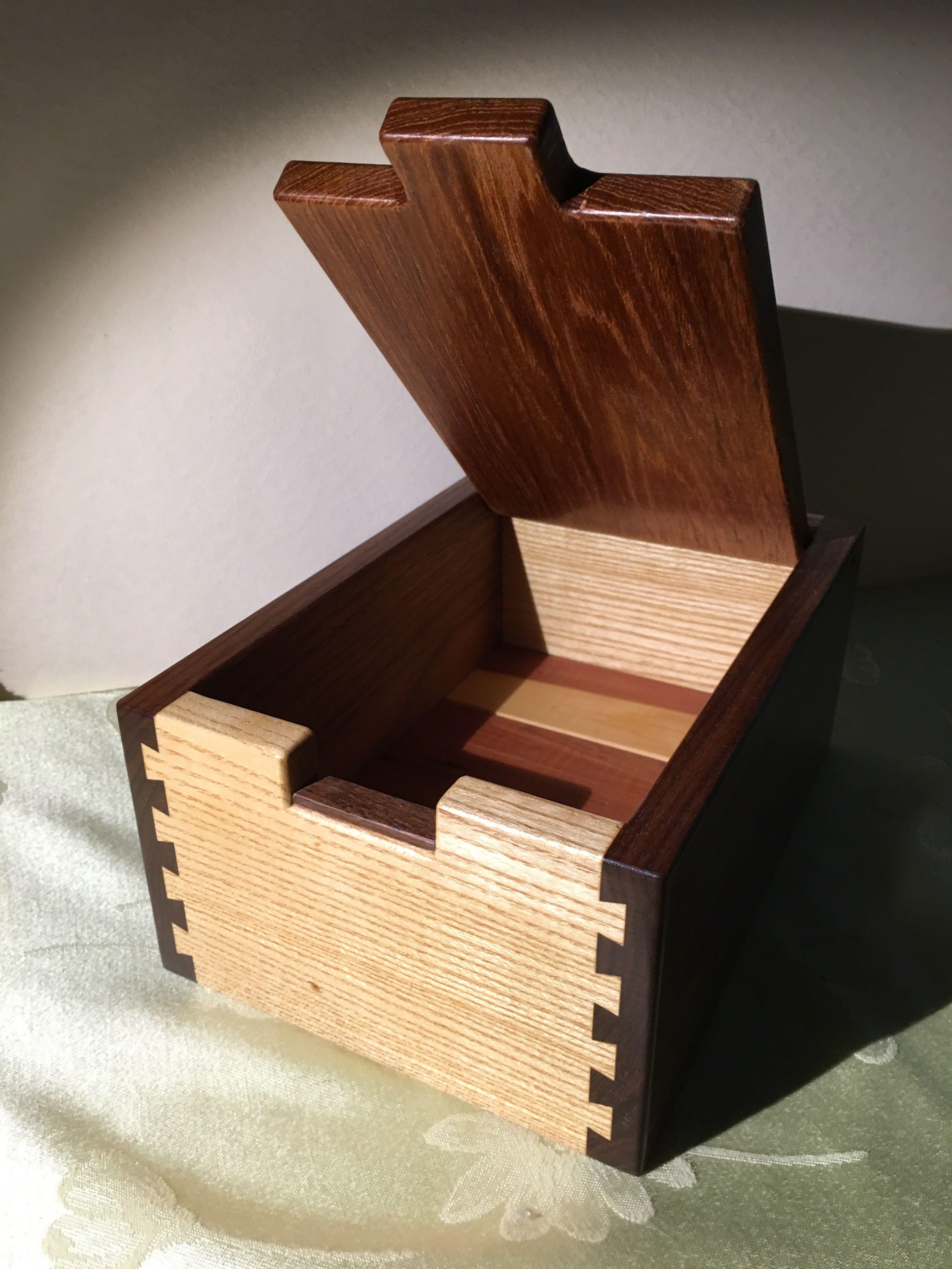 Dovetailed Walnut Hickory Teak Cedar Box 10 X 7 X 5 By Michael Mann Cedar Box Wood Art Teak