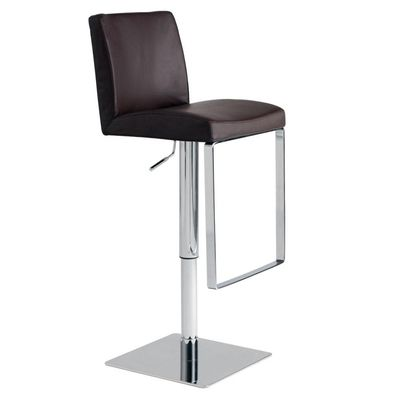 Matteo Chocolate Leather Adjustable Bar Counter Stool By Nuevo