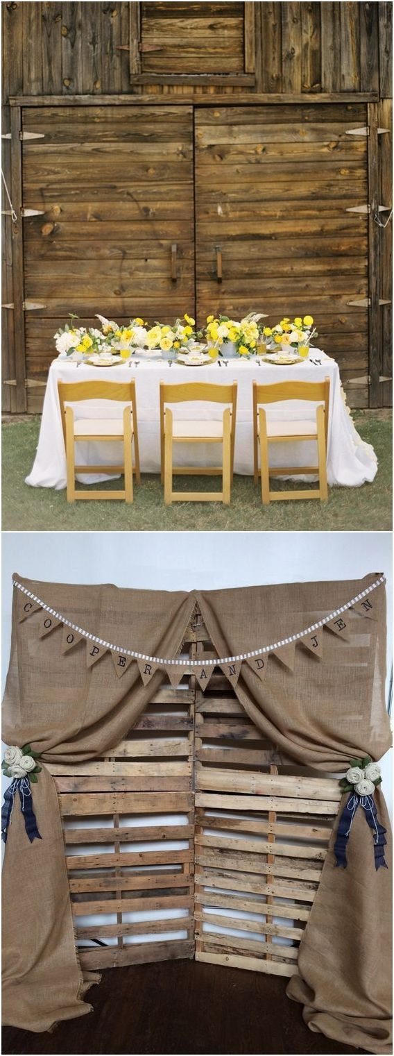 50 Fab Rustic Wood Pallet Wedding Ideas (With images ...
