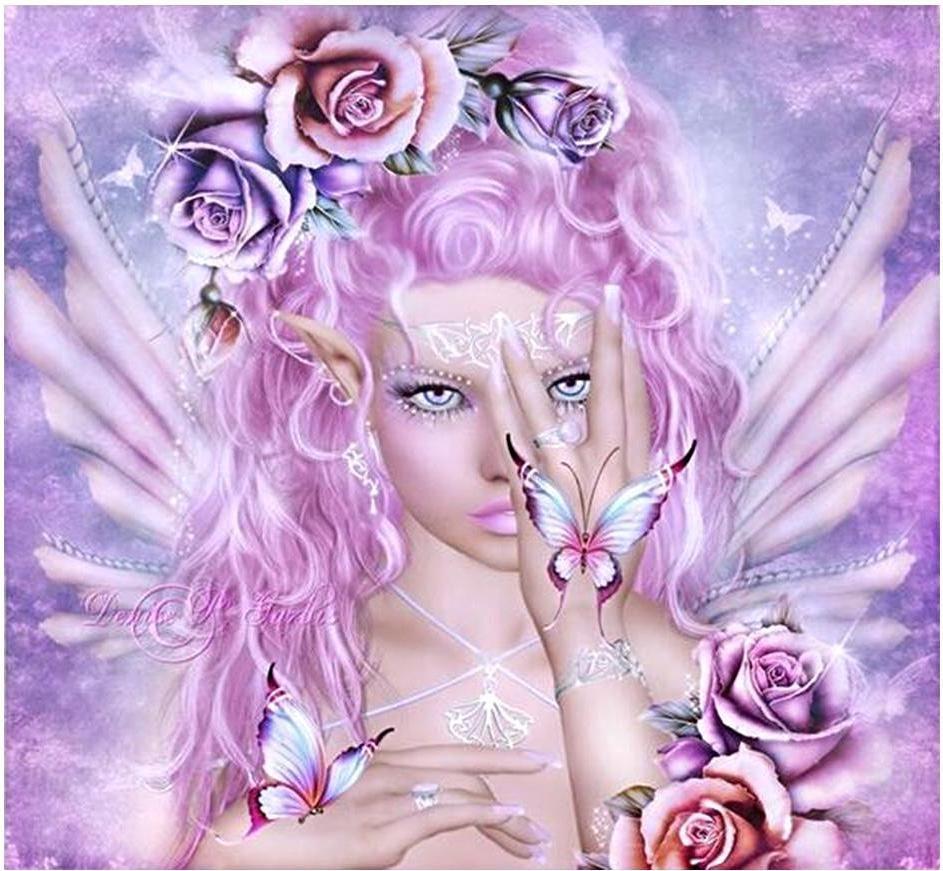 5d diy goddess crystal diamond painting beautiful fairies