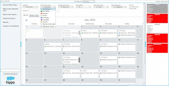 Easily schedule your maintenance workflow using Hippo CMMS's