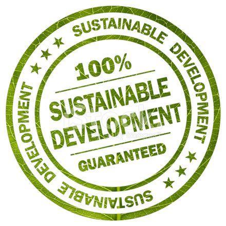 持続可能な開発ラベル 100 % 保証 - ラウンド スタンプ