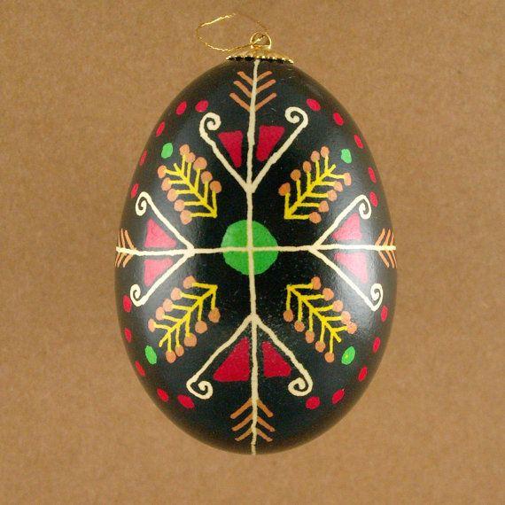 Pysanky Ukrainian Easter Egg Ram's Horns Hand by JustEggsquisite, $18.00