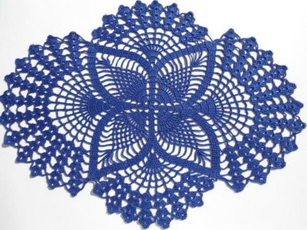 Crochet Doilies Free Crochet Pattern Oval Lace Doilies
