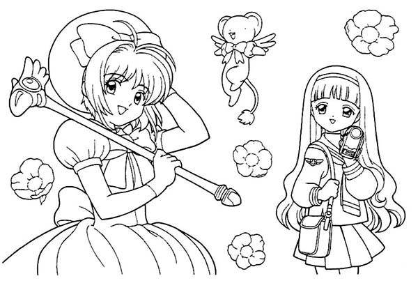 Kids Drawing Of Cardcaptor Sakura Coloring Page Coloring Sun Cute Coloring Pages Cardcaptor Sakura Drawing For Kids