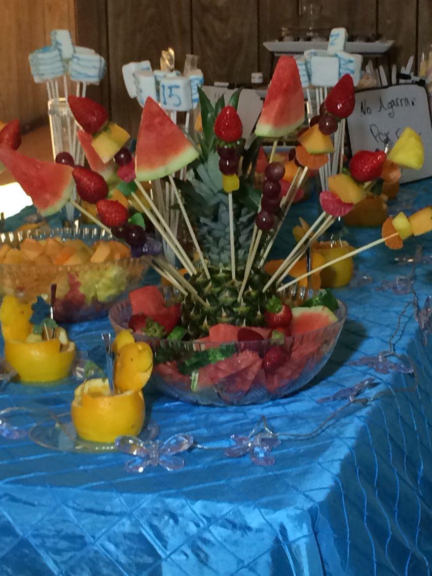 Pina Decorada Buffet De Fruta Frutas Decoradas Frutas