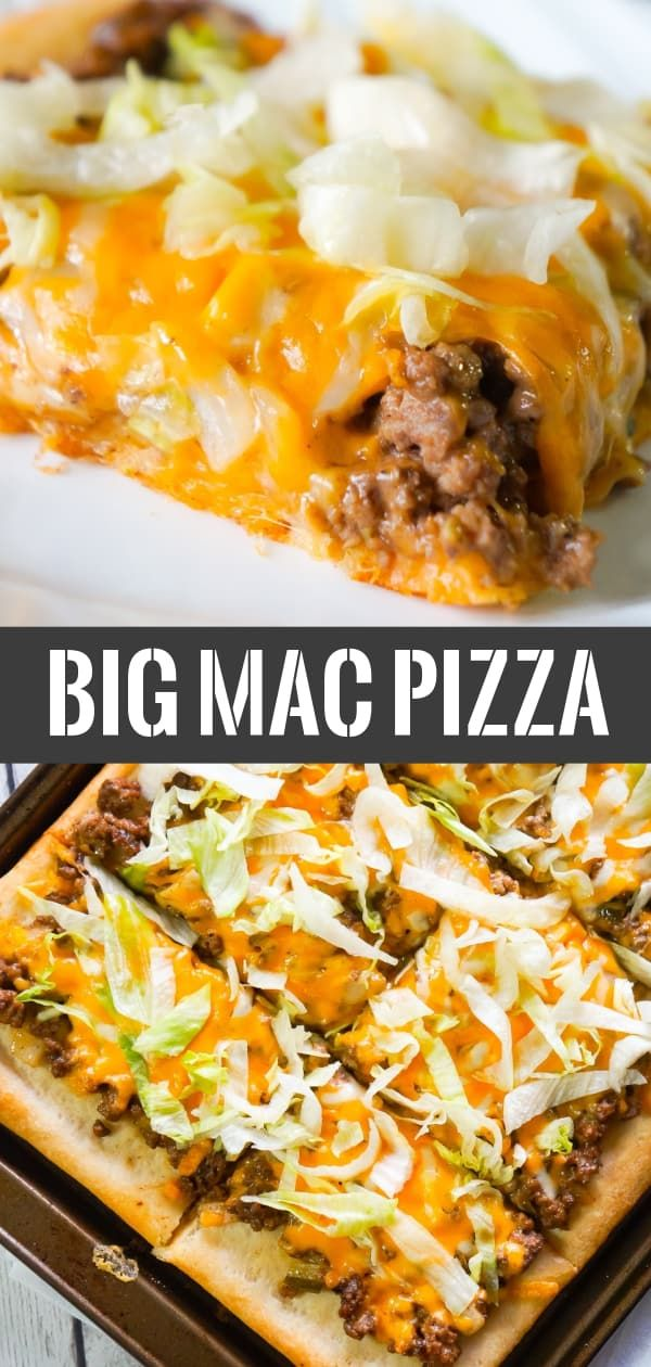 Big Mac Pizza - This is Not Diet Food